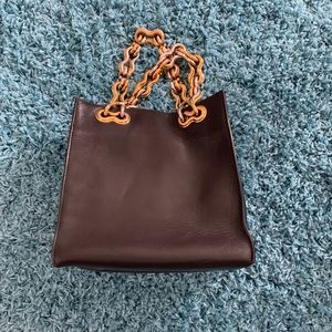 Balenciaga leather 2toned chain tote
